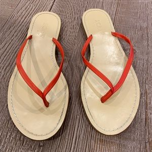 J Crew capri leather upper flip flops